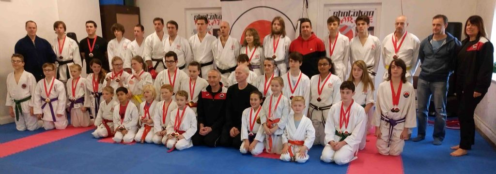 Grimsby Karate group at the Cleethorpes Shotokan Club